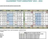 CALENDRIER  FOOT ANIMATION  2015 - 2016